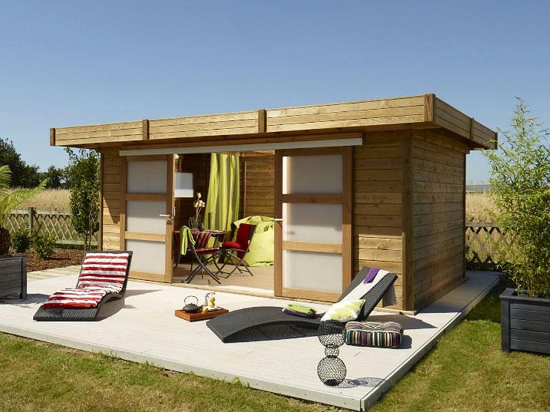 Micromega d partement chalets bois for Porte exterieure abri de jardin