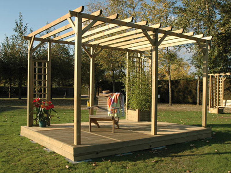 modele de pergola en bois interesting pergola bois en kit modele de pergola en bois with modele. Black Bedroom Furniture Sets. Home Design Ideas